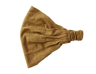 コーデに最適。おすすめのおしゃれヘアバンド1 リネンナチュラルバンダナヘアバンド 商品画像