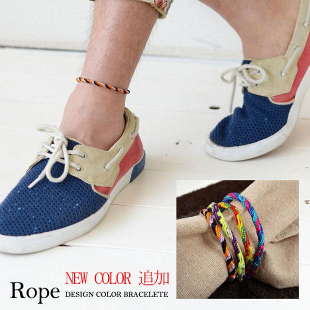 Ropeデザインカラーブレス