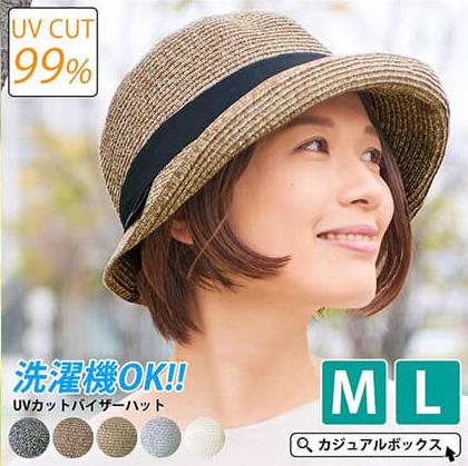 UVカット率 99.99%おすすめアイテム6 洗えるUVカットバイザーハット