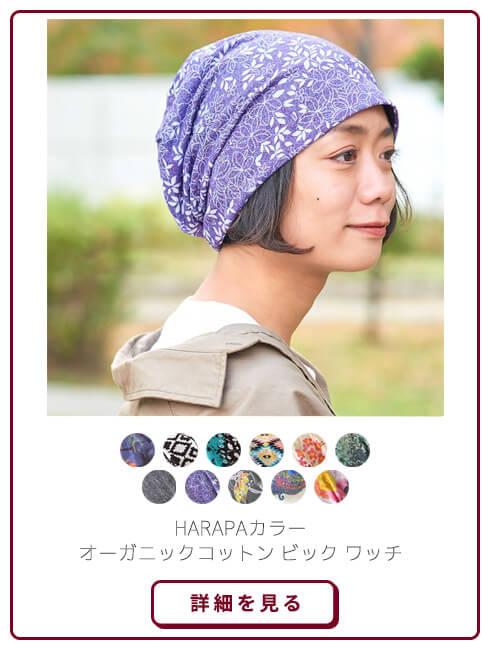 HARAPA カラー オーガニックコットン ビックワッチ